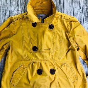 American Rag Tie Yellow Ruched Jacket